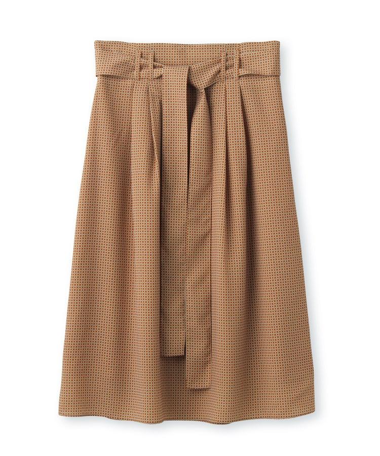 UNTITLED essential clue(アンタイトル エッセンシャルクルー)【洗える】Rattiモダンドットスカート