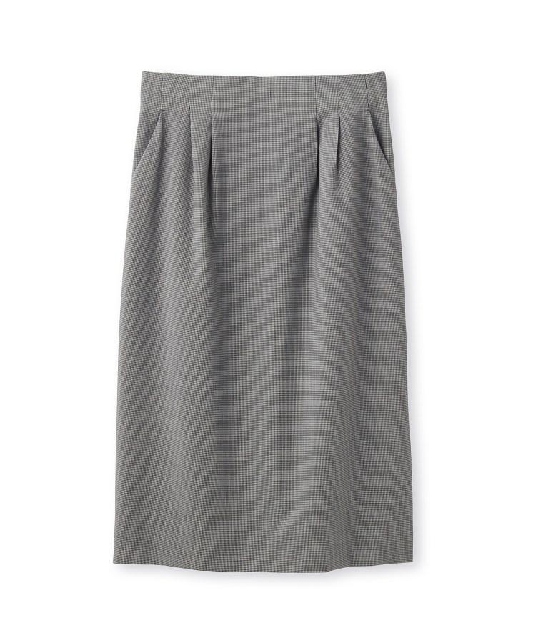 UNTITLED essential clue(アンタイトル エッセンシャルクルー)ミリオールチェック ミモレ丈スカート