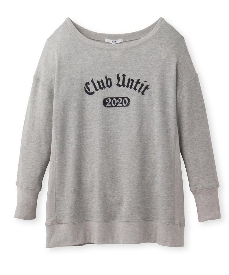 Untit_(アンティット)【洗える】ガーゼ裏毛カレッジロングTシャツ