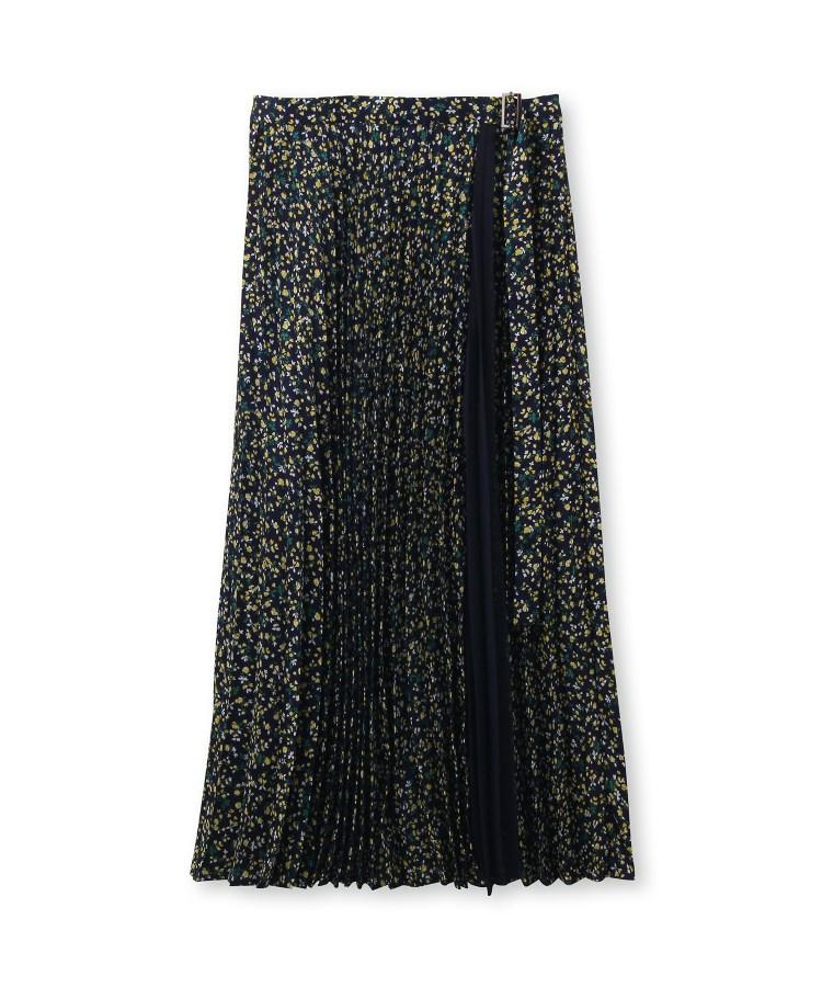 UNTITLED(アンタイトル)【洗える】ヴィンテージ風フラワープリントプリーツスカート