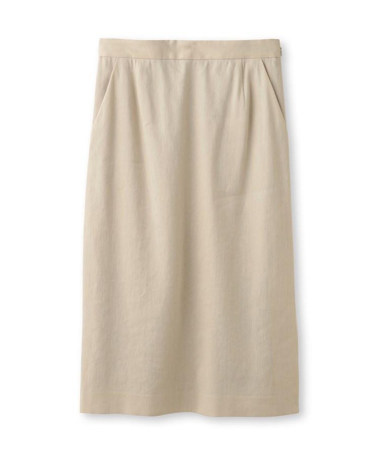 UNTITLED essential clue(アンタイトル エッセンシャルクルー)麻ブレンドナロースカート