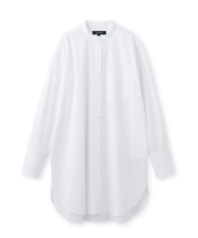 UNTITLED(アンタイトル)【洗える】バンドカラーブロードシャツ