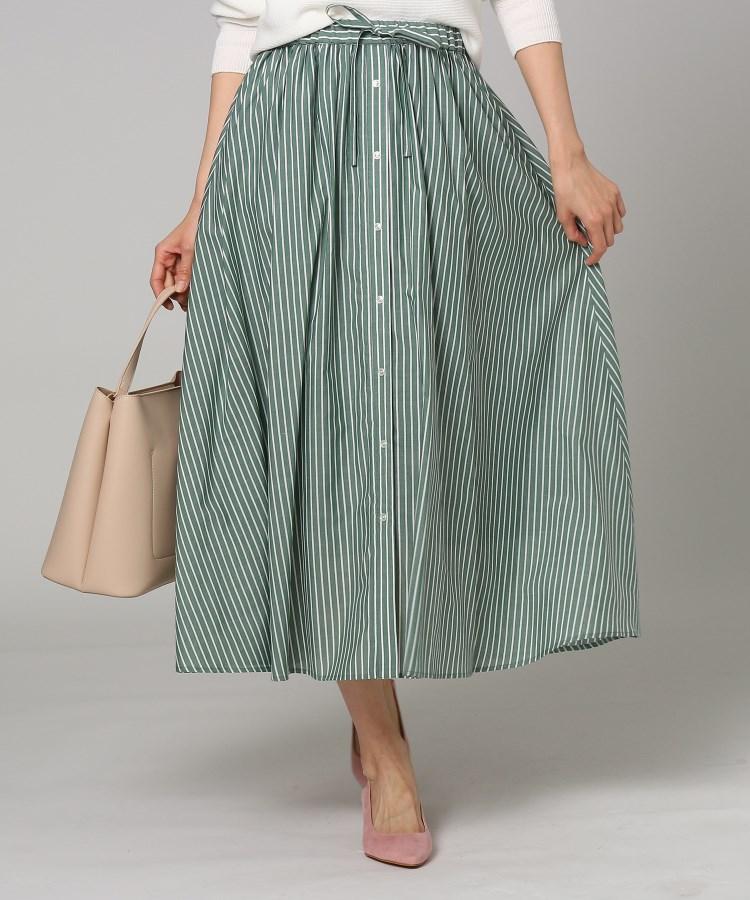 UNTITLED/FAIRY SHADE(フェアリーシェード)[L]【洗える】ローンストライプスカート
