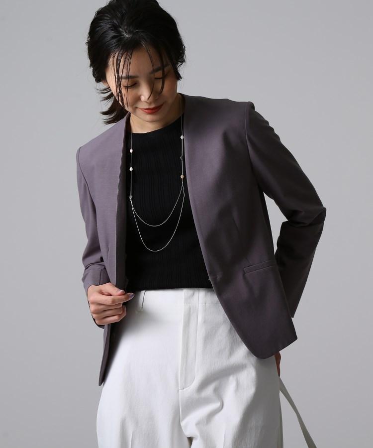UNTITLED(アンタイトル)[L]【洗える】カラーレスジャケット