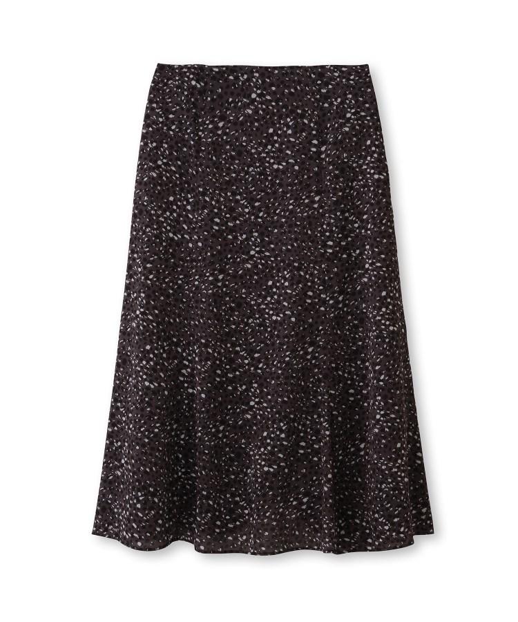 UNTITLED(アンタイトル)【洗える】レオパールドットプリントロングスカート