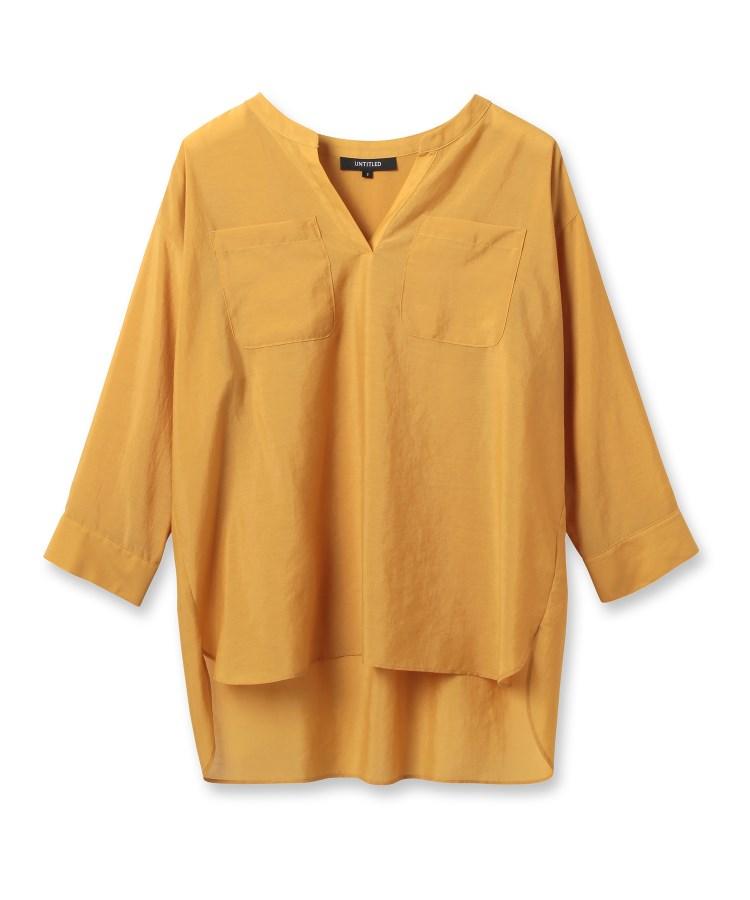 UNTITLED(アンタイトル)【洗える】ボイルキーネックシャツ