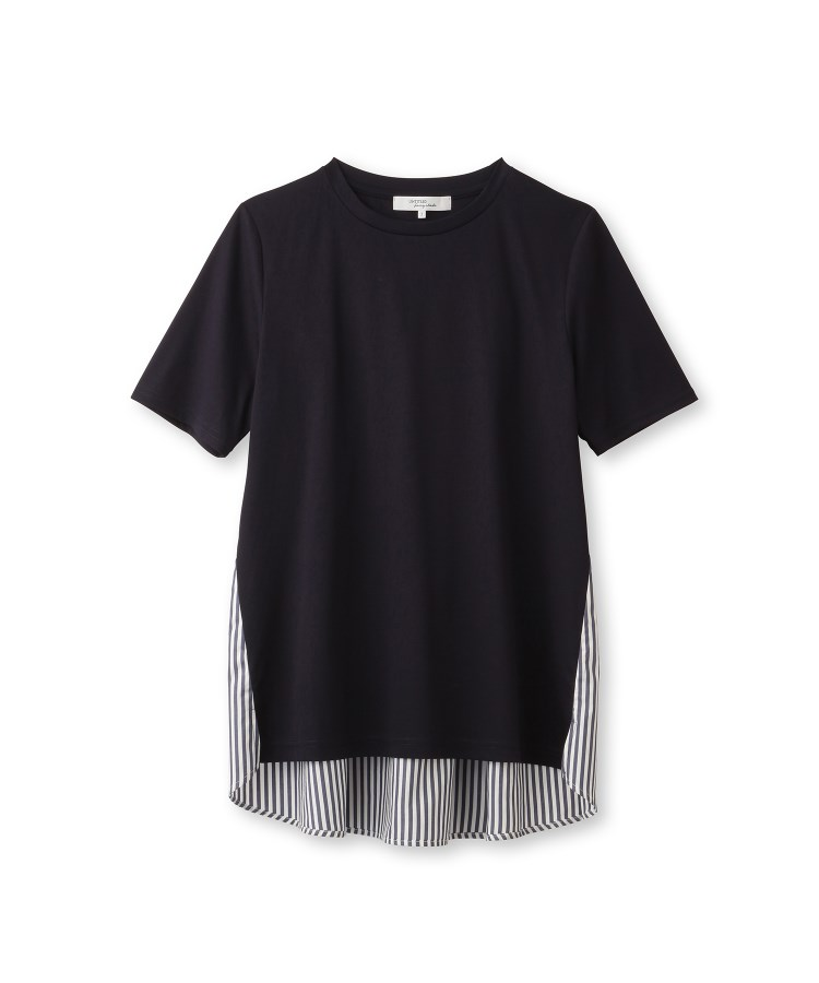 UNTITLED/FAIRY SHADE(フェアリーシェード)【洗える】アルビニスタスムース バックシャンデザインTシャツ