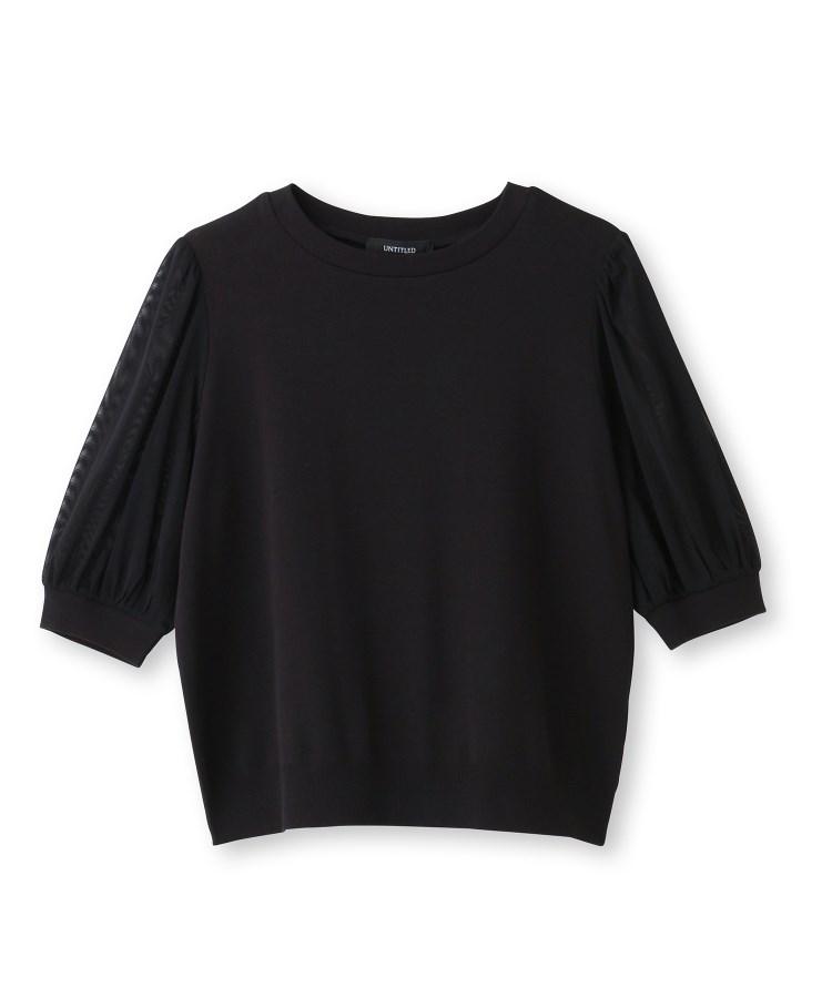 UNTITLED(アンタイトル)【洗える】袖コンシャスカットソー