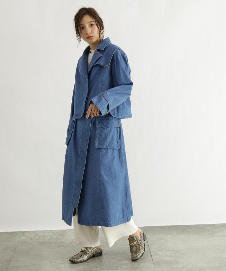 OZOC(オゾック)デニムジャケット&ジャンパースカートセット