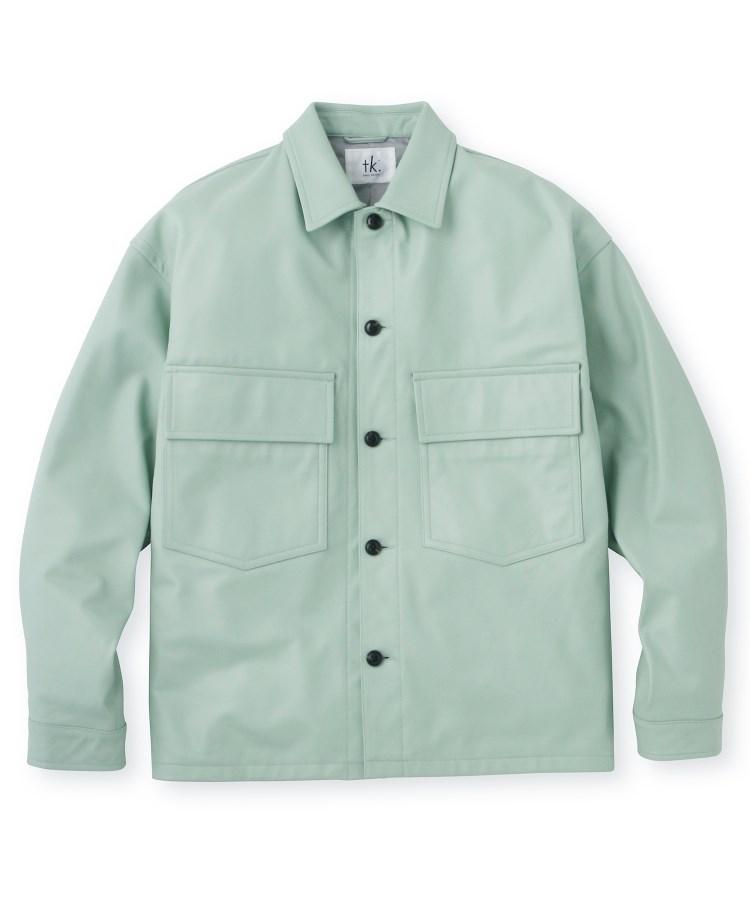 tk.TAKEO KIKUCHI(ティーケー タケオ キクチ)ラムレザーダブルポケットジャケット
