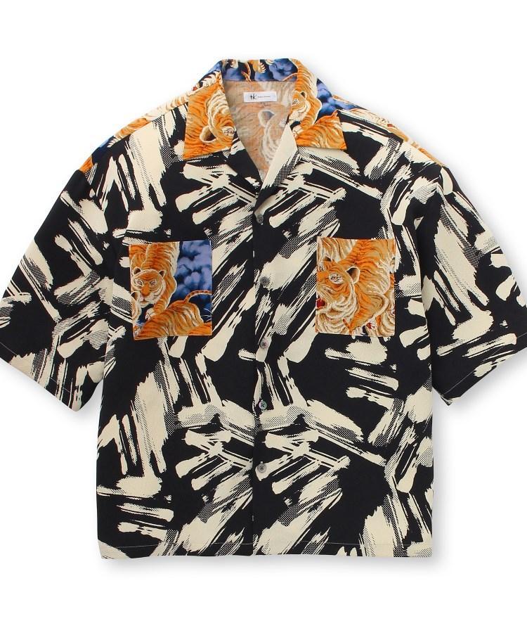 tk.TAKEO KIKUCHI(ティーケー タケオ キクチ)【とうきょう くらしっく】百虎開襟シャツ
