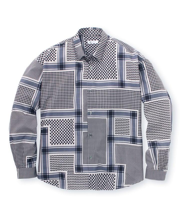 tk.TAKEO KIKUCHI(ティーケー タケオ キクチ)アフガン柄プリントビッグシャツ