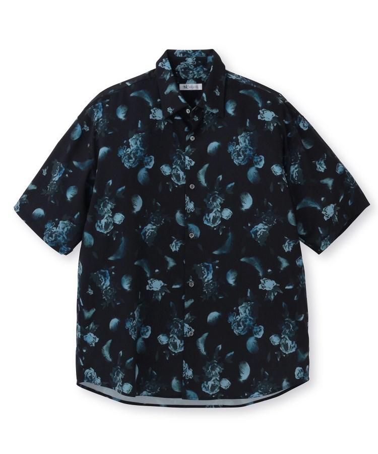 tk.TAKEO KIKUCHI(ティーケー タケオ キクチ)フラワーフェザーオーバーサイズシャツ(5分袖)