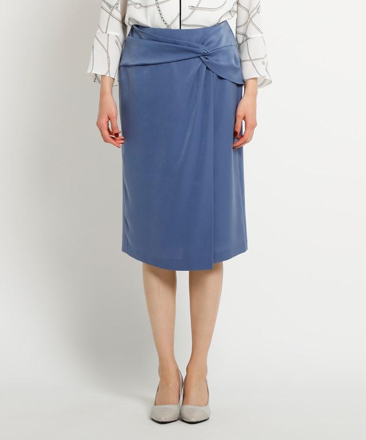 COUP DE CHANCE(クードシャンス)マットサテンツイストタイトスカート