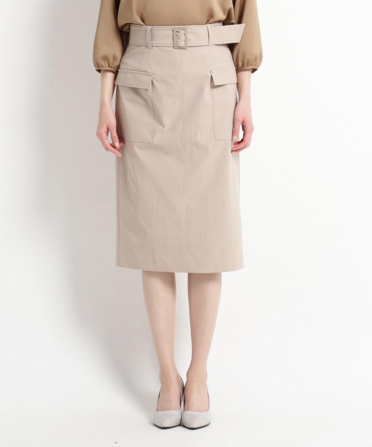 COUP DE CHANCE(クードシャンス)【洗える】フロントポケット ストレートチノスカート