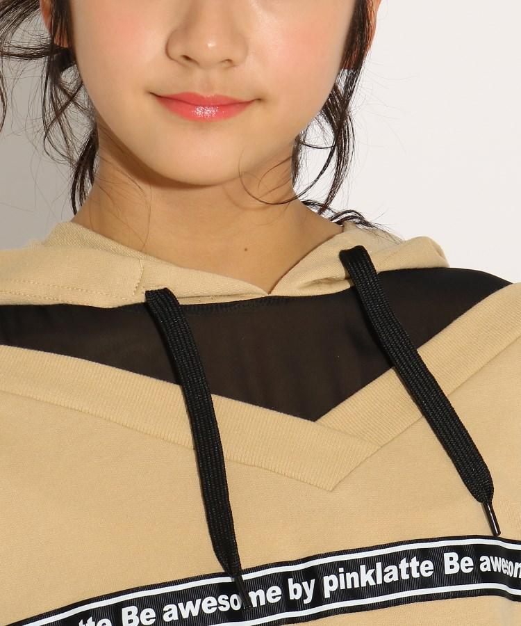 トップス PINK-latte (ピンク ラテ) ★ニコラ掲載★フード付すけレイヤード風