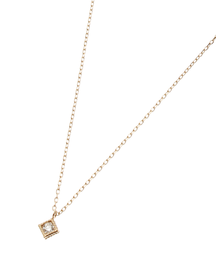 COCOSHNIK(ココシュニック)ダイヤモンドスクエアハサミ留ネックレス