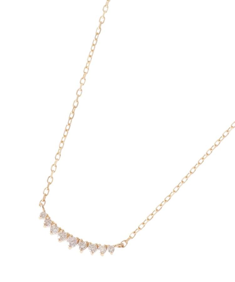 COCOSHNIK(ココシュニック)ダイヤモンド グラデーションアーチ ネックレス