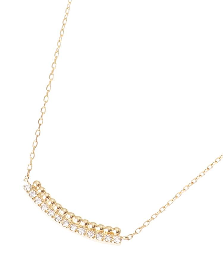 COCOSHNIK(ココシュニック)K18ダイヤモンド 丸玉アーチ ネックレス