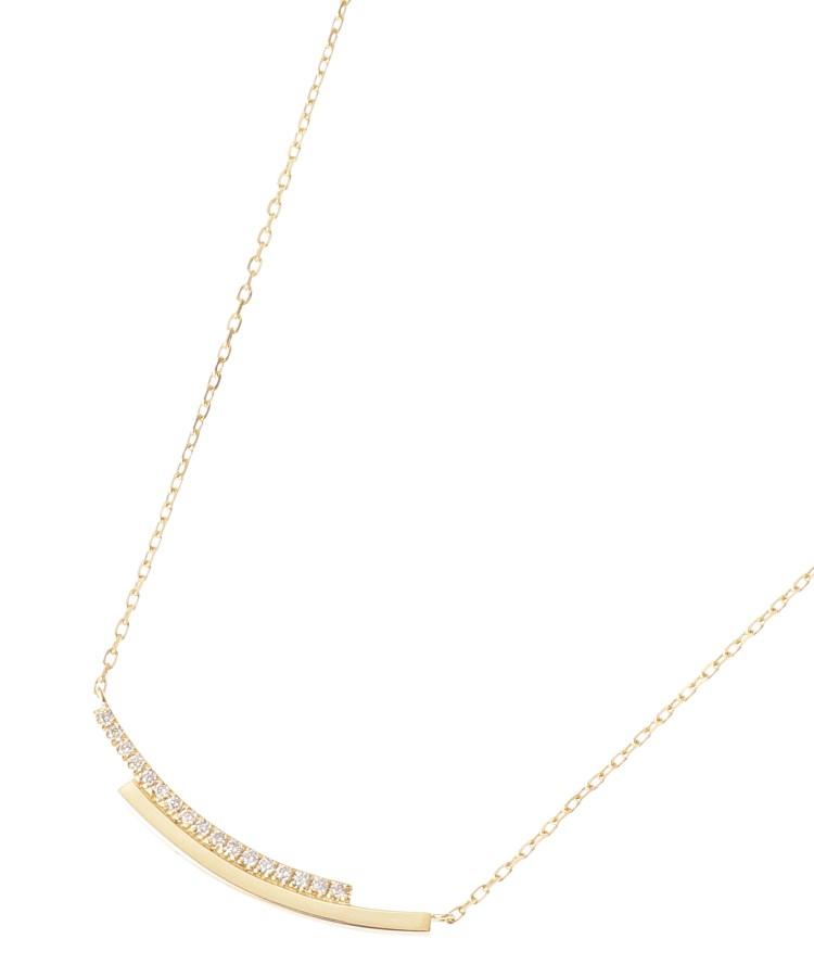 COCOSHNIK(ココシュニック)K18ダイヤモンド オーバーラップ ネックレス