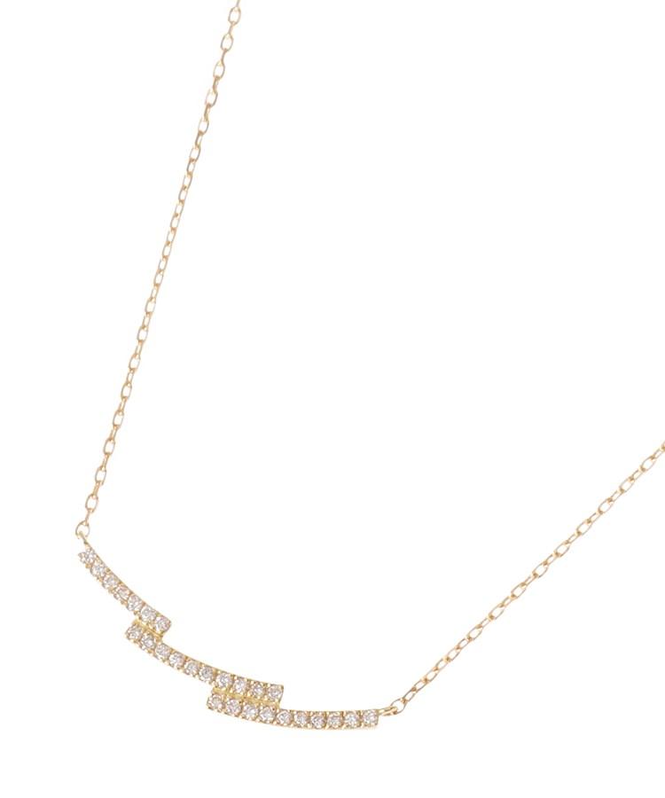 COCOSHNIK(ココシュニック)K18ダイヤモンド ステップアーチ ネックレス