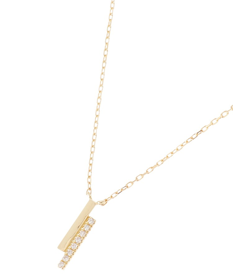 COCOSHNIK(ココシュニック)K18ダイヤモンド オーバーラップ縦 ネックレス 小