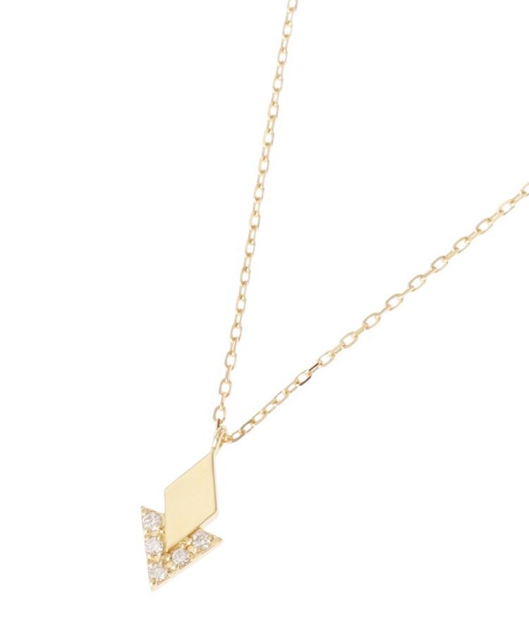 COCOSHNIK(ココシュニック)K18ダイヤモンド ジオメモチーフひし形 ネックレス 大