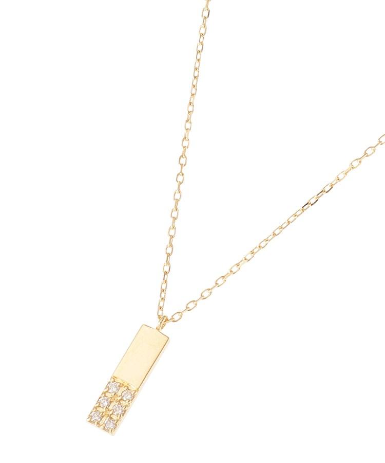 COCOSHNIK(ココシュニック)K18ダイヤモンド ジオメモチーフ長角 ネックレス