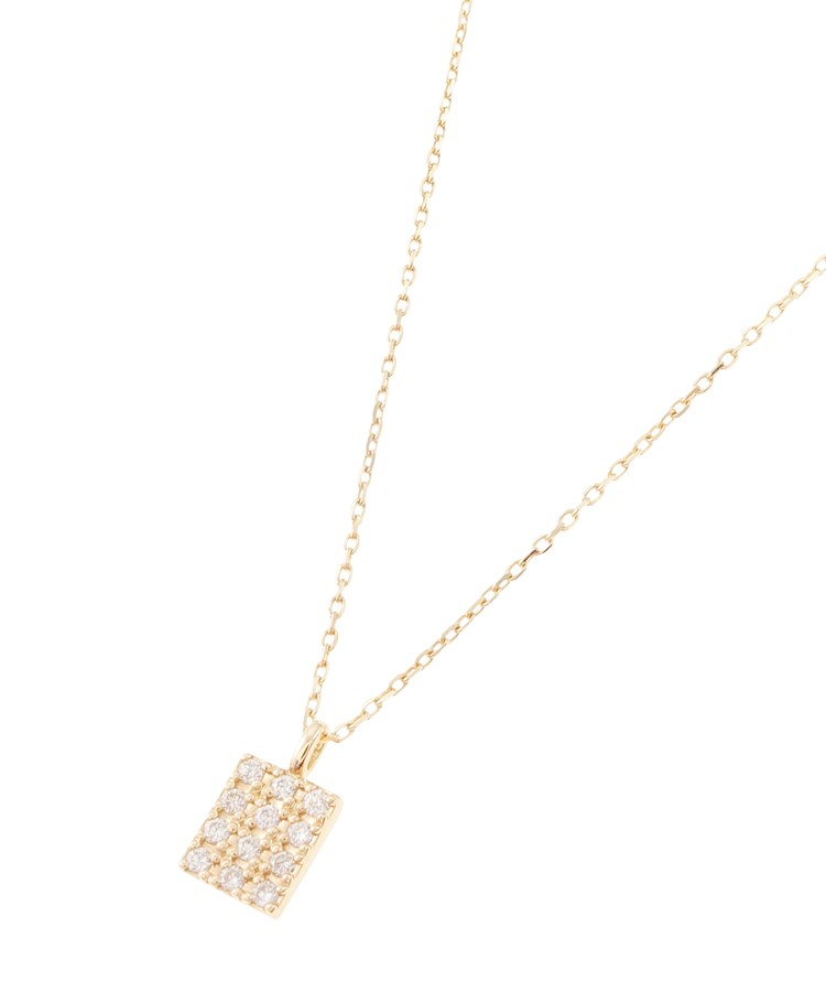 COCOSHNIK(ココシュニック)ダイヤモンド スクエアパヴェ ネックレス