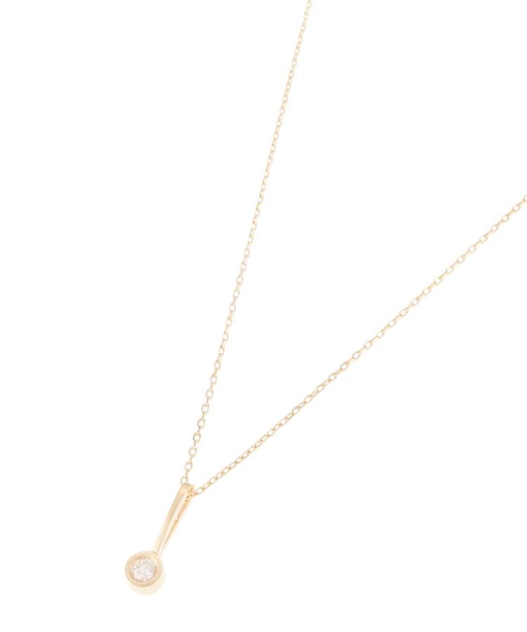 COCOSHNIK(ココシュニック)ダイヤモンド ベゼル留め ネックレス