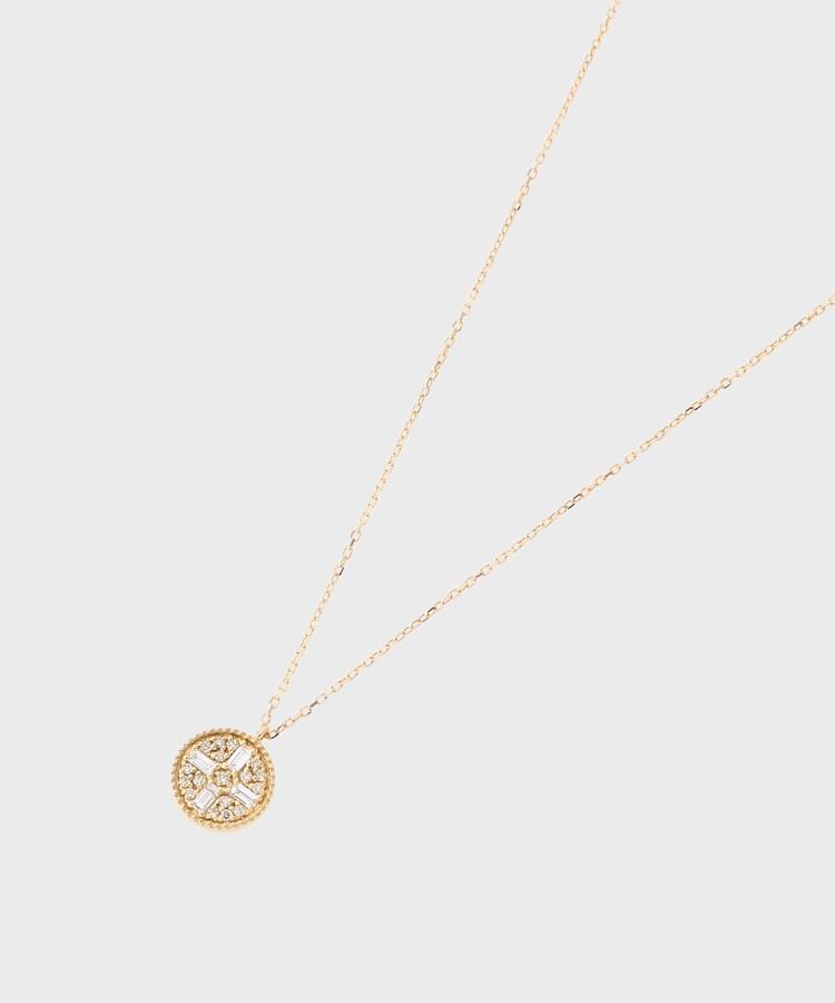 最大80%オフ! COCOSHNIK(ココシュニック)K18ダイヤモンド バゲットカット4石パヴェ ラウンドネックレス, The TENT 代官山 391ce963