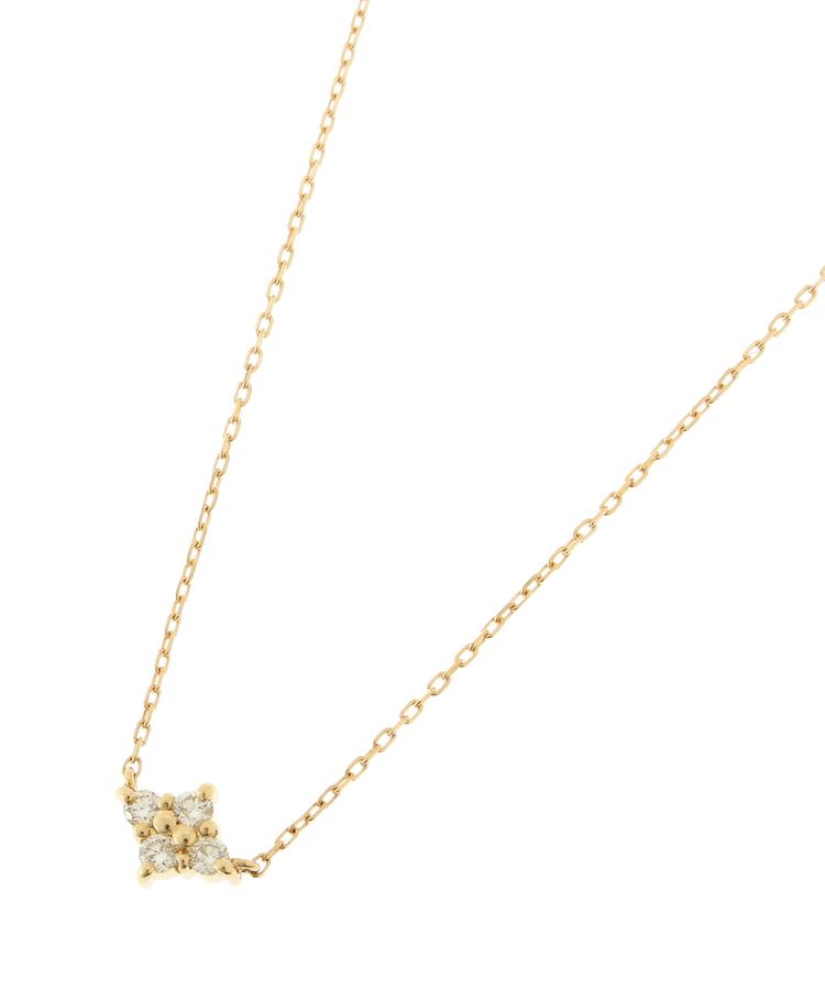 COCOSHNIK(ココシュニック)K18ダイヤモンド フラワーネックレス