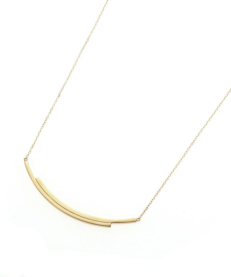 COCOSHNIK(ココシュニック)スライドチェーン オーバーラップ ネックレス