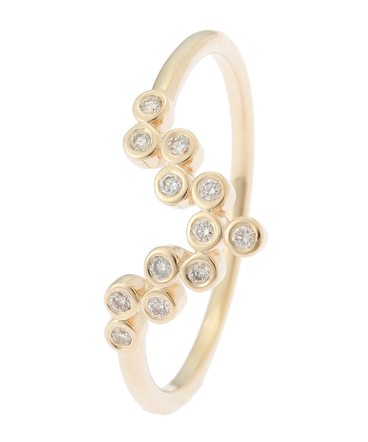 COCOSHNIK(ココシュニック)ダイヤモンド ベゼルセット Vリング