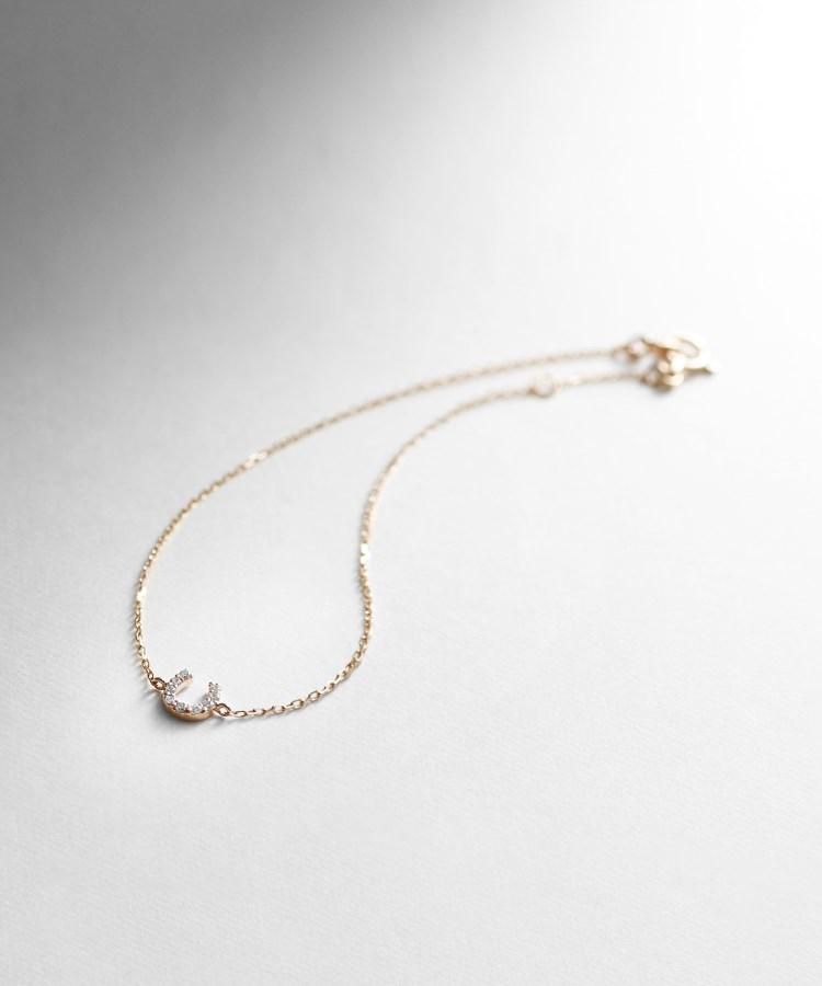 COCOSHNIK(ココシュニック)ダイヤモンド馬蹄モチーフ ブレスレット