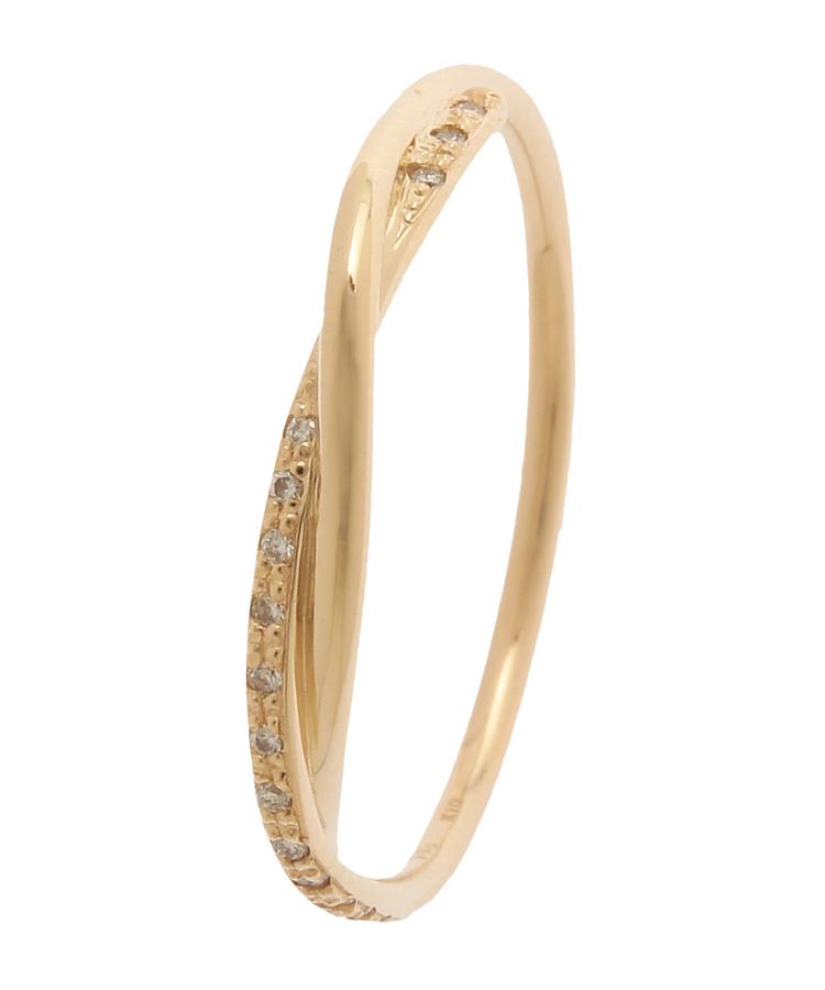 COCOSHNIK(ココシュニック)ダイヤモンド丸線ひねり リング