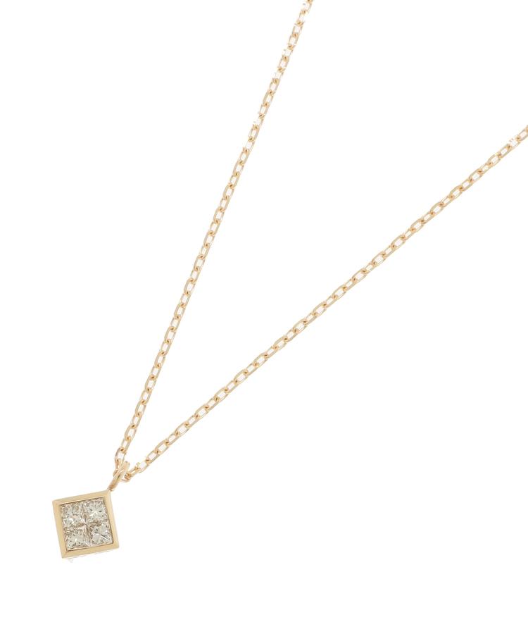 COCOSHNIK(ココシュニック)ダイヤモンド プリンセスカット ひし形ネックレス