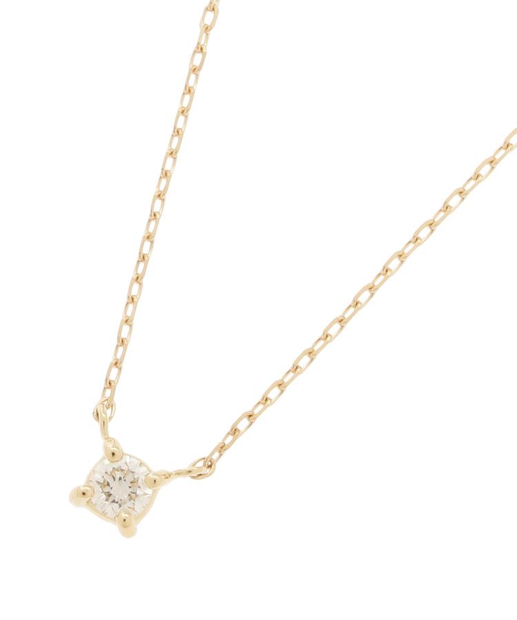 COCOSHNIK(ココシュニック)K18ダイヤモンド爪留ネックレス小