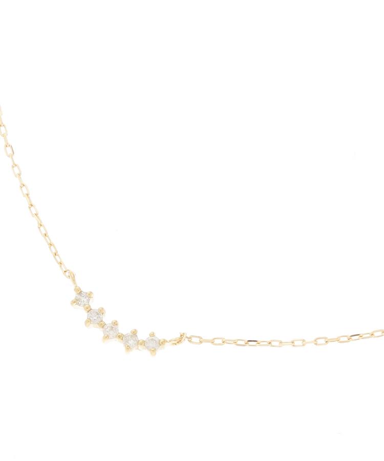 COCOSHNIK(ココシュニック)K18ダイヤモンド5石 ネックレス