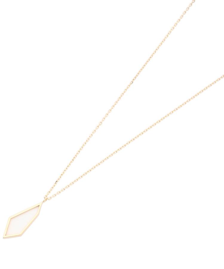 COCOSHNIK(ココシュニック)カラーストーン(ホワイトカルセドニー)平石ネックレス大