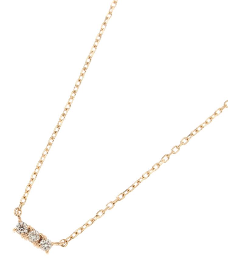 COCOSHNIK(ココシュニック) ダイヤモンド3石 チョーカー