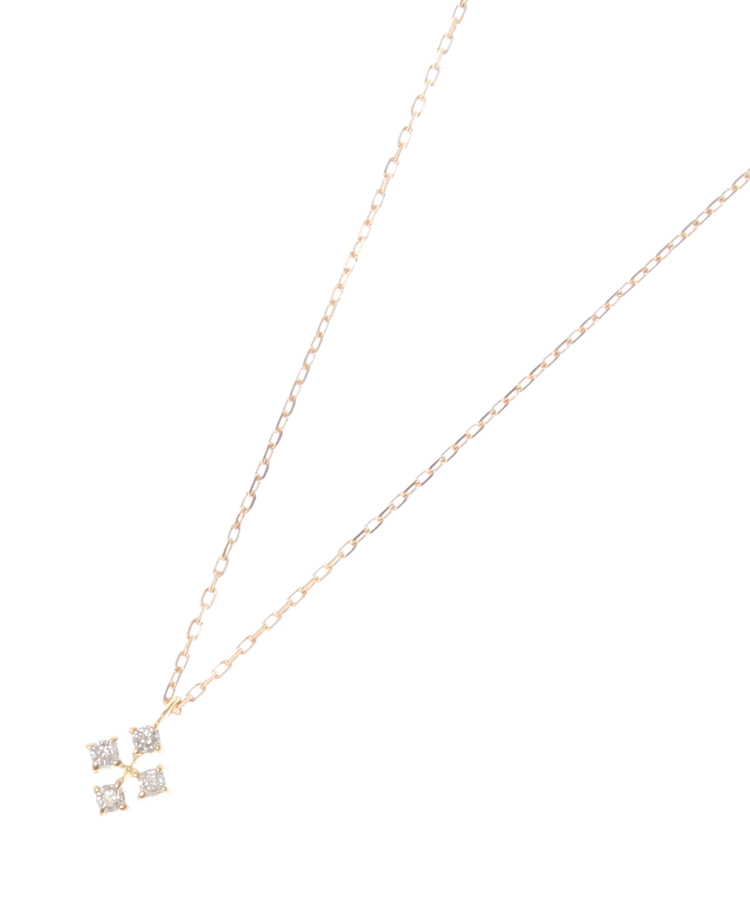 COCOSHNIK(ココシュニック)K18ダイヤモンド ひし形ネックレス小