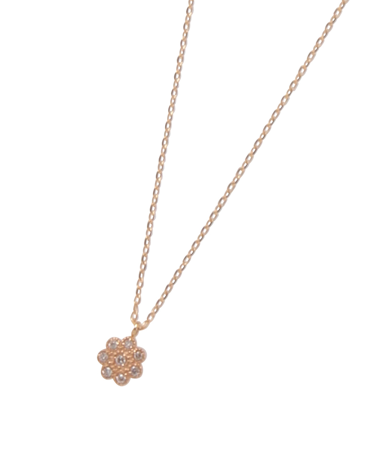 COCOSHNIK(ココシュニック)ダイヤモンドフラワー ネックレス