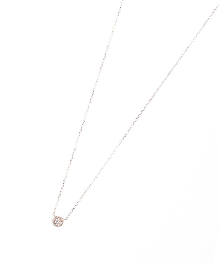 COCOSHNIK(ココシュニック)バースデイストーン(ダイヤ4月)×メレダイヤ ネックレス