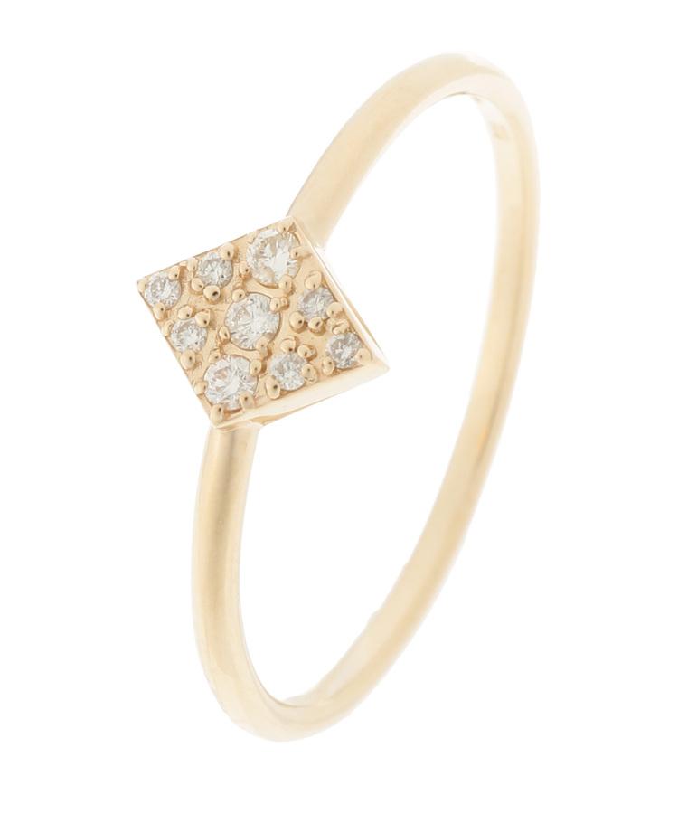 COCOSHNIK(ココシュニック)ダイヤモンド パヴェ菱形 リング