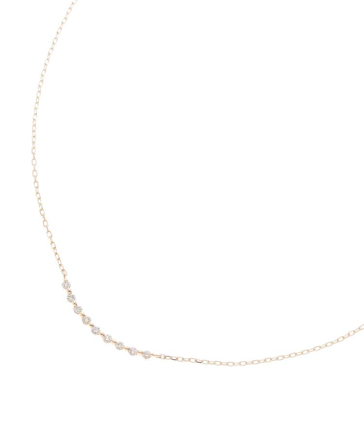 COCOSHNIK(ココシュニック)ダイヤモンド ふせ込みアーチ9石 ネックレス