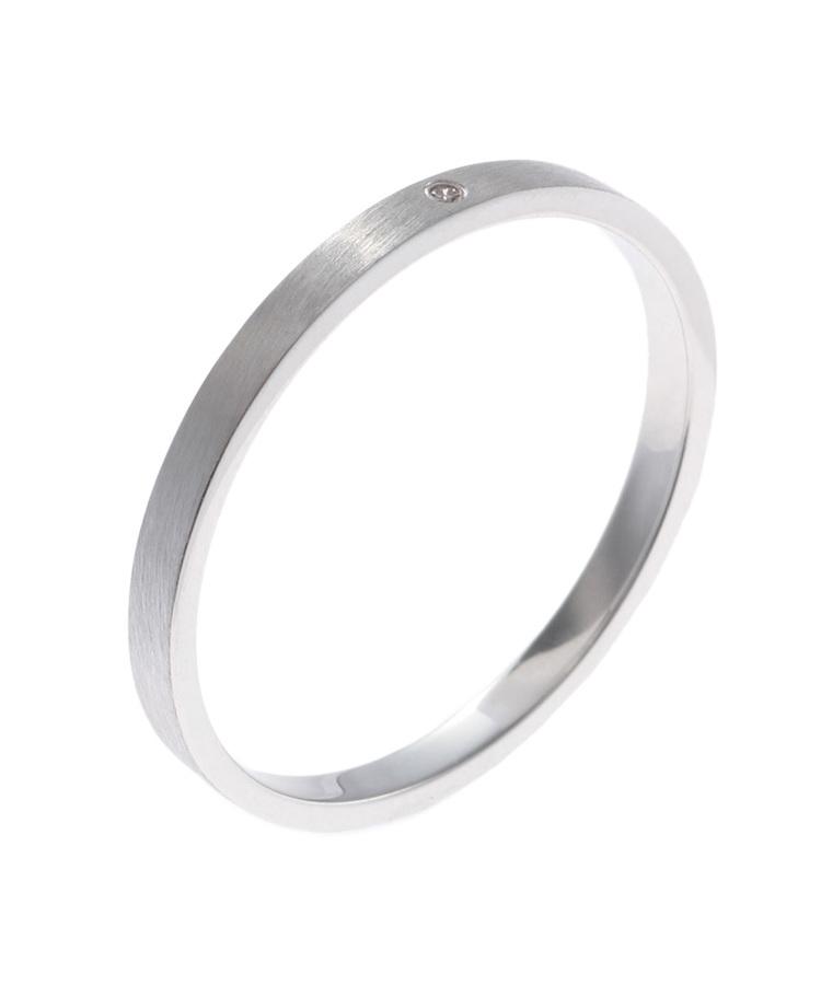 COCOSHNIK(ココシュニック)ダイヤモンド平打ち(WG) パートナーリング(メンズ)