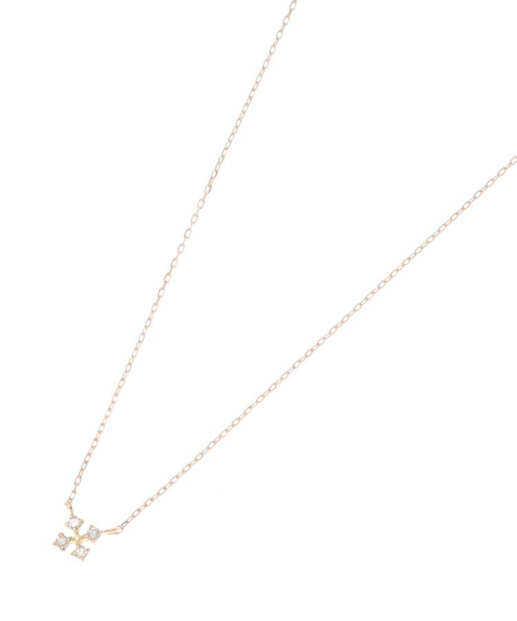 COCOSHNIK(ココシュニック)K18ダイヤモンド スクエアネックレス小