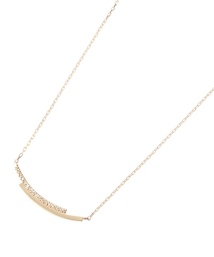 COCOSHNIK(ココシュニック)ダイヤ×地金 重なり形 ネックレス