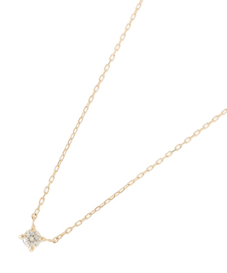 COCOSHNIK(ココシュニック)ダイヤモンド爪留めネックレス
